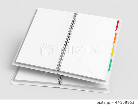 Open blank notebook with tags 44169952