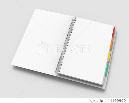 Blank notebook with tags 44169990