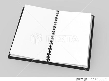 Spiral notebook blank template 44169992
