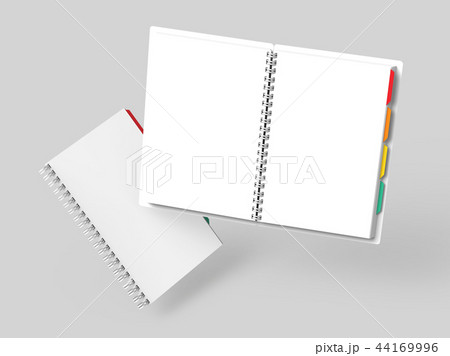 Open blank notebook with tags 44169996