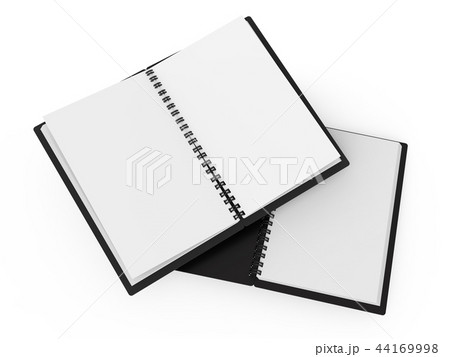 spiral notebooks blank templateのイラスト素材 44169998 pixta