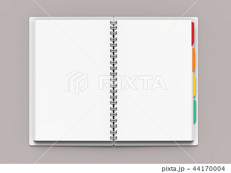 Open blank notebook with tags 44170004