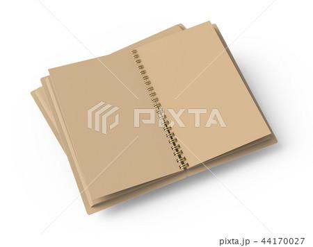 Open blank cardboard notebook 44170027