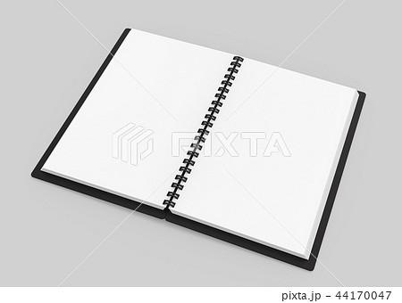 Black open hard cover book 44170047