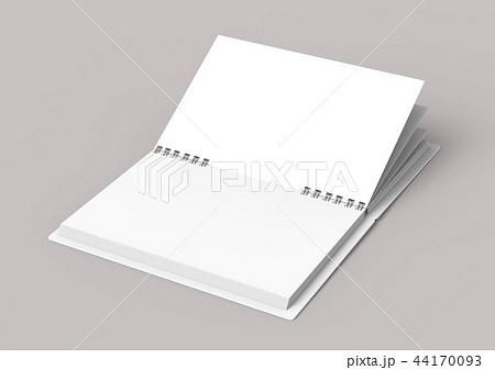 White hard cover open book 44170093