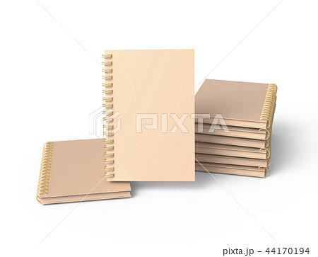 Pile of kraft paper notebooks 44170194