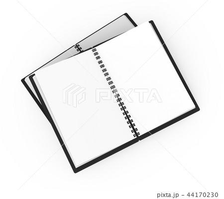 Black hard cover open notebooks 44170230