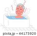 シニア 男性 冬場の入浴のぼせ ヒートショック 44173920