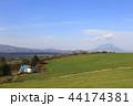 北海道 牧場 丘の写真 44174381