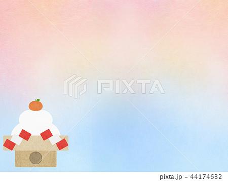 和-和風-和柄-和紙-背景-鏡餅-正月 44174632