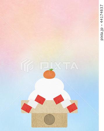 和-和風-和柄-和紙-背景-鏡餅-正月 44174637