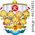 七福神 年賀状素材 猪のイラスト 44174831