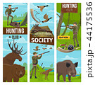 Vector hunting club banners of hunter and animals 44175536
