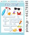 クロスワード ゲーム 試合のイラスト 44179385