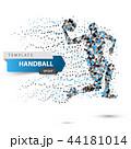 Handball dot illustration on the white background. 44181014