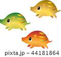走る うり坊 猪のイラスト 44181864