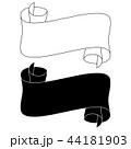 白 黒色 黒のイラスト 44181903