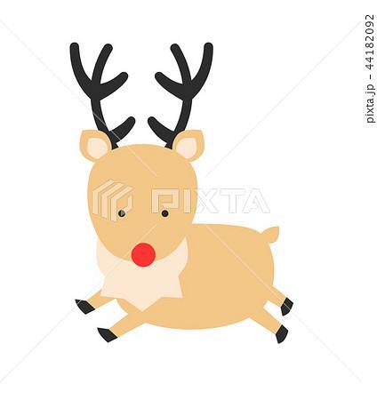 クリスマス 赤鼻のトナカイのイラスト素材 44182092 Pixta