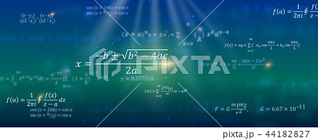 Mathematical formulas. Abstract background with 44182827