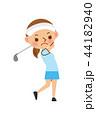 ゴルフ 女性 44182940