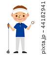 ゴルフ 男性 44182941