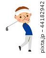 ゴルフ 男性 44182942