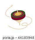 独楽 年賀状素材 おもちゃのイラスト 44183948