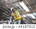 建設現場 電気工事 建設 作業員 44187012