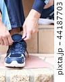 運動靴 (ジャージ スポーツ シューズ スニーカー トレーニング ランニング 男性 顔なし 人物) 44187703