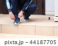 運動靴 (ジャージ スポーツ シューズ スニーカー トレーニング ランニング 男性 顔なし 人物) 44187705