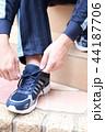 運動靴 (ジャージ スポーツ シューズ スニーカー トレーニング ランニング 男性 顔なし 人物) 44187706