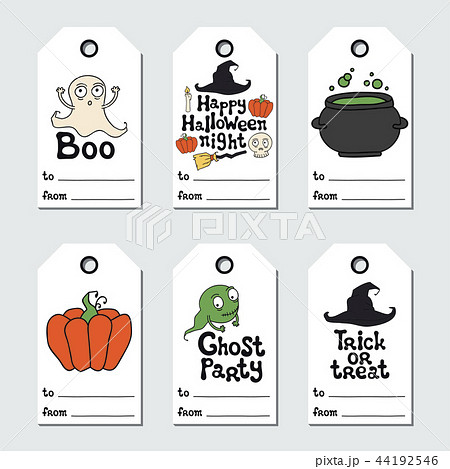 halloween gift tags printable tags collection handdrawn lettering