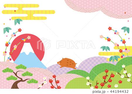 亥年-年賀状テンプレート 44194432