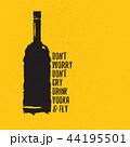 ウォッカ ビン 下げ札のイラスト 44195501