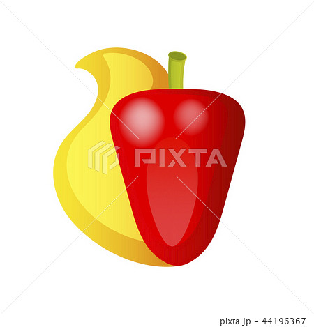 Red pepper chilli vector flat material design 44196367