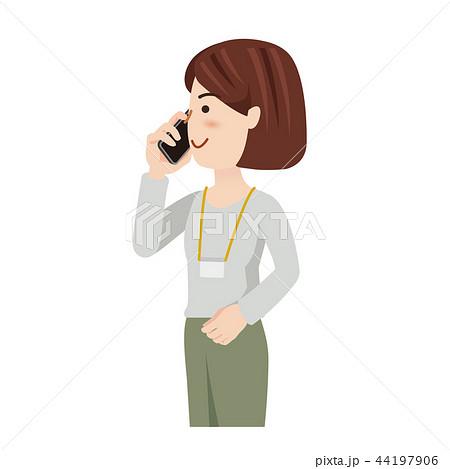 ビジネス 女性 カジュアル ビジネスウーマン スマホ 44197906