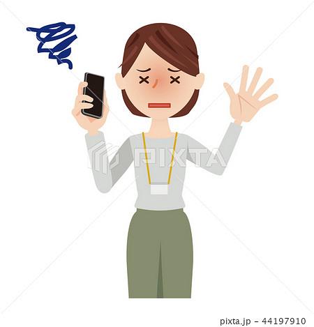 ビジネス 女性 カジュアル ビジネスウーマン スマホ 44197910