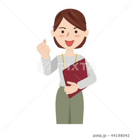 ビジネス 女性 カジュアル オフィスカジュアル スタッフ 44198042
