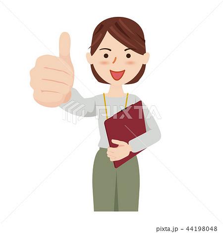 ビジネス 女性 カジュアル オフィスカジュアル スタッフ 44198048