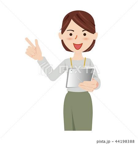 ビジネス 女性 カジュアル オフィスカジュアル タブレット 44198388