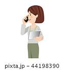ビジネス 女性 カジュアル オフィスカジュアル タブレット 44198390