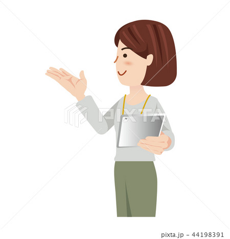 ビジネス 女性 カジュアル オフィスカジュアル タブレット 44198391
