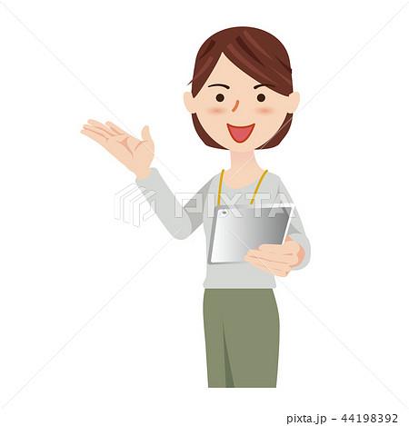ビジネス 女性 カジュアル オフィスカジュアル タブレット 44198392