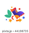 Hiking boot, camping, summer travel equipment vector Illustration on a white background 44198735