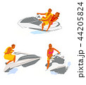 Leisure sports collection, enjoying healthy lifestyle concept flat vector illustration. on a white background. 011 44205824