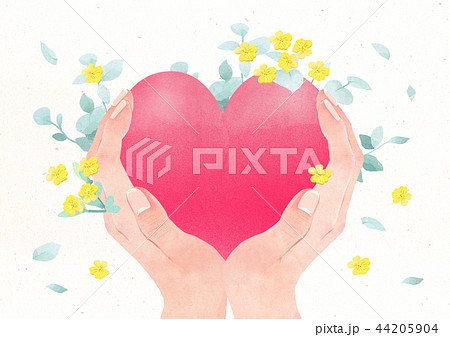 Hands holding something watercolor hands drawing vector illustration on a white background. 005 44205904