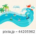 イラスト 挿絵 ビーチのイラスト 44205962