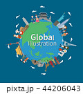 Global village concept vector illustration 44206043
