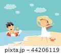 ビーチ 浜辺 人のイラスト 44206119
