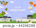 Vector illustration of Mungyeong  44206288